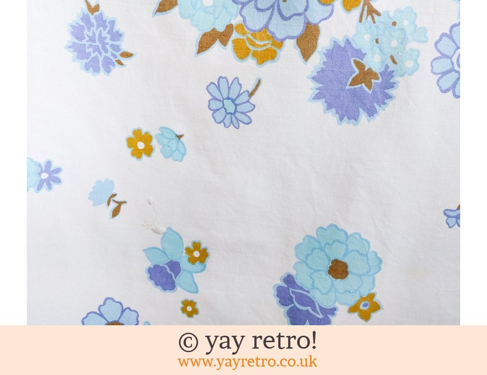 Flower Power Blue Tablecloth 1960/70s (£14.00)
