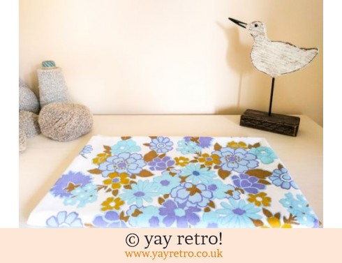 0: Flower Power Blue Tablecloth 1960/70s (£14.00)