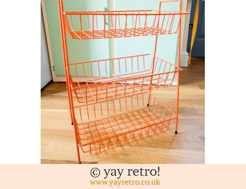 0: Orange Vintage Wire Rack (£36.00)