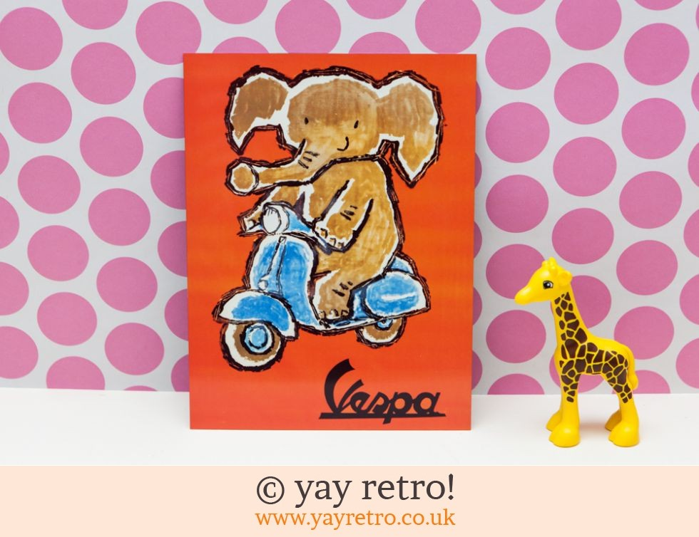 Vespa Elephant Wall Metal Sign  / Plaque (£6.50)