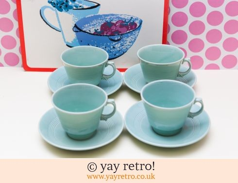 58: Beryl Cups and Saucers x 4 Offer (£12.75)