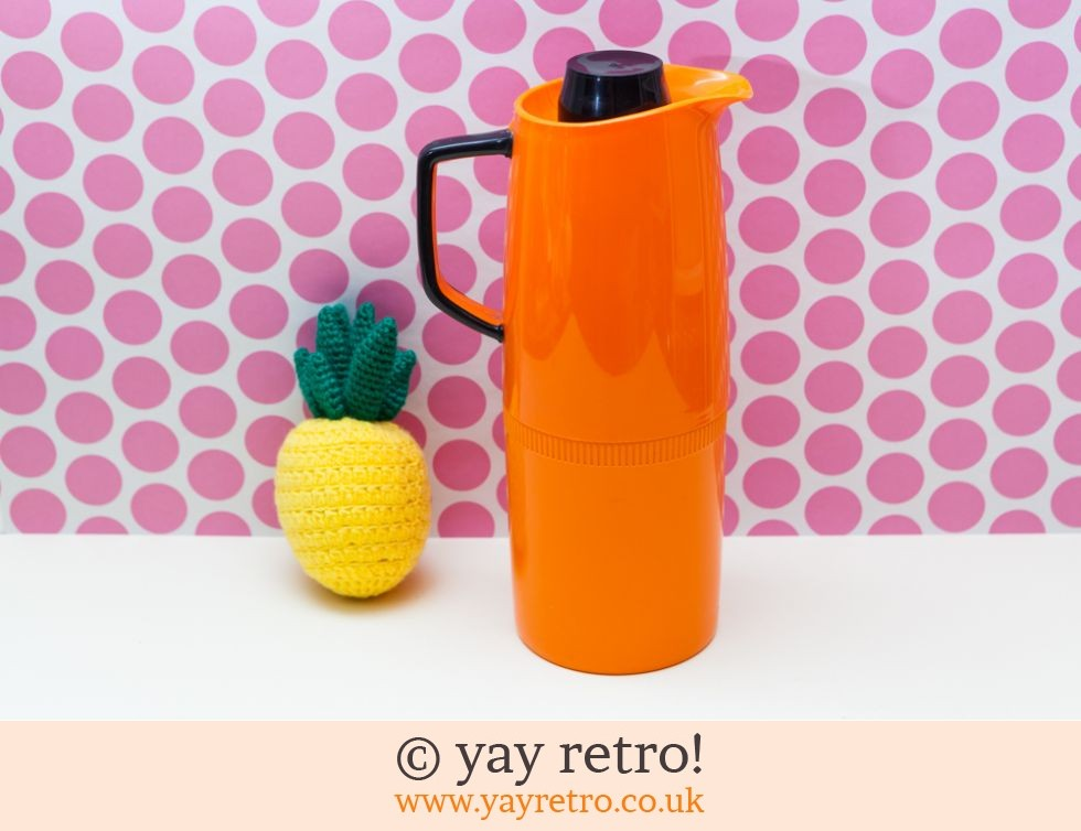 Vintage Orange Vacuum Jug Thermos Flask (£14.00)