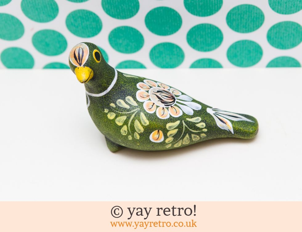 Tonala?: Large Green Pottery Bird (£8.00)