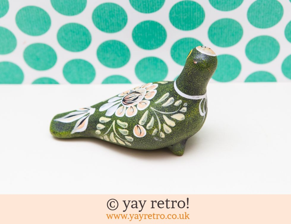 Large Green Pottery Bird (£8.00)
