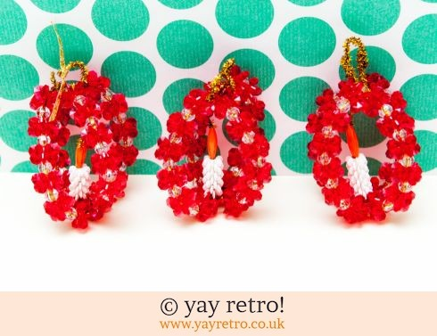 0: Large Vintage Beaded Candle Baubles x 3 (£8.00)