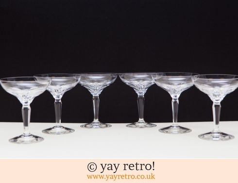 0: 6 Vintage Fine Champagne Coupes (£29.95)