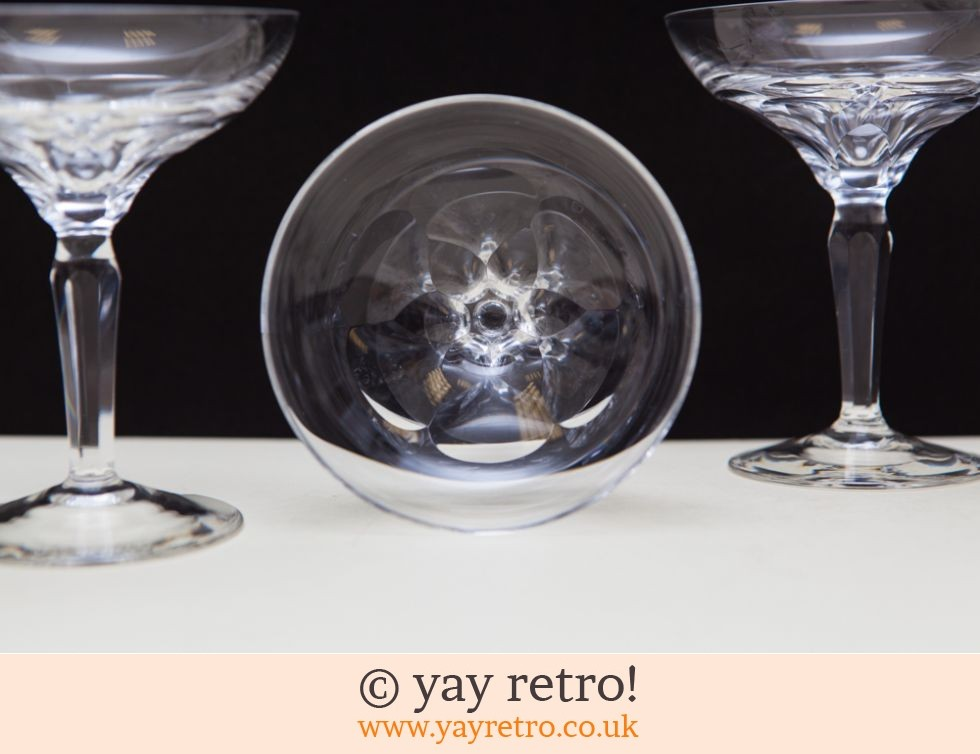 6 Vintage Fine Champagne Coupes (£29.95)