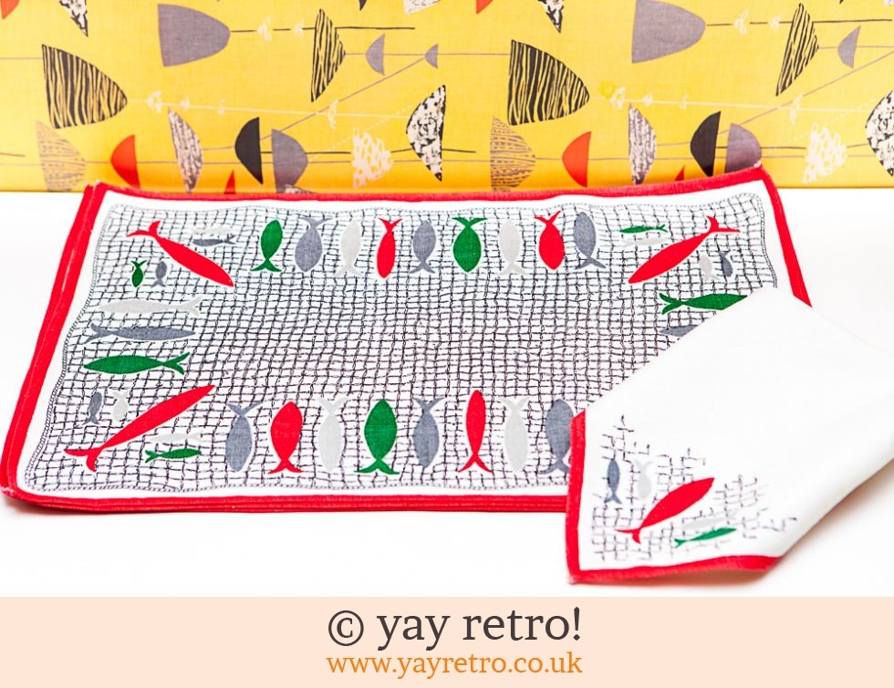 1950s Fishy Tablemats and Napkins (£18.50)