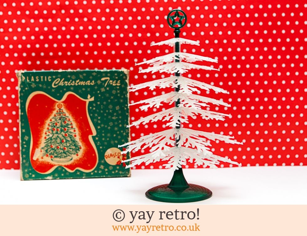 Vintage Plastic Christmas Tree