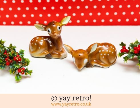 0: Amazing Vintage Deer Salt & Pepper Pots (£19.95)