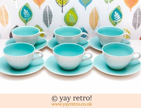 1: 6 Ice Green Poole Cups & Saucers (£28.75)