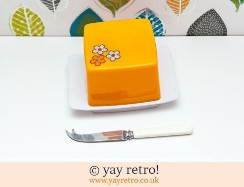 0: Orange Daisy Butter /Cheese Dish + Free Knife (£13.25)
