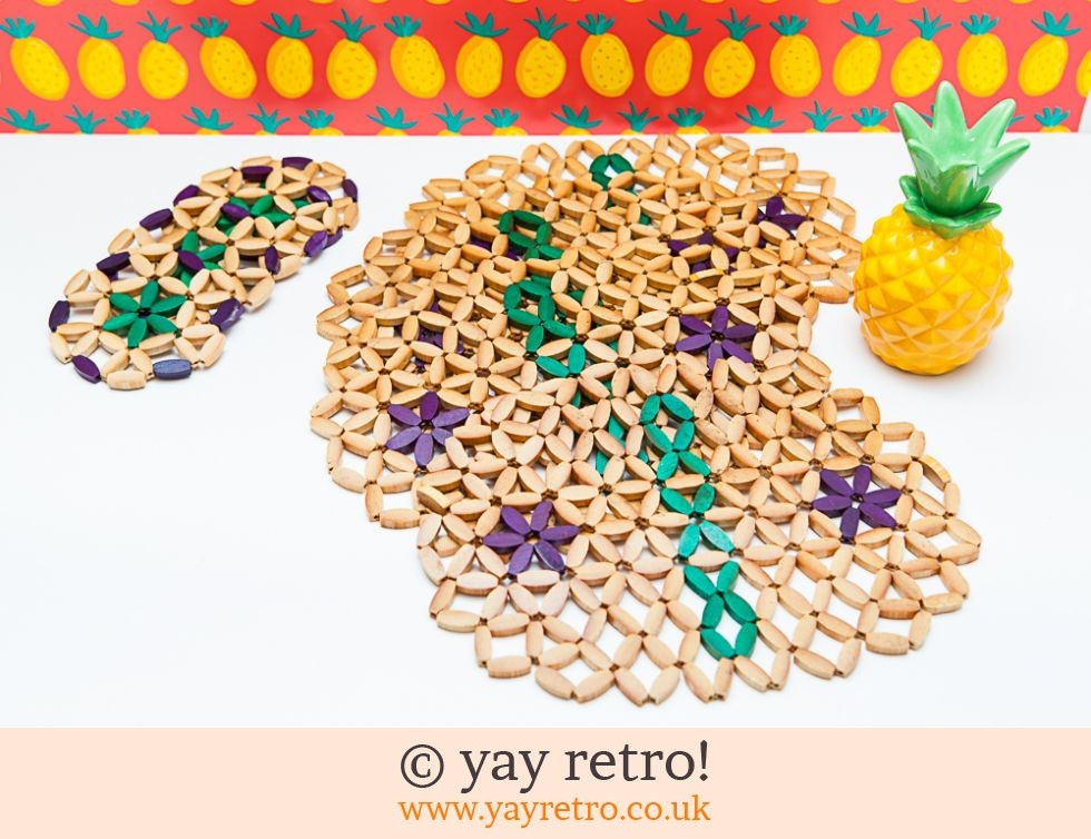 1940/50s Beaded Table Mats and Coasters x 4 (£8.50)