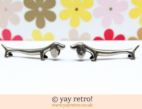 0: Pair of Silver Sausage Dog Knife Rests (£12.75)