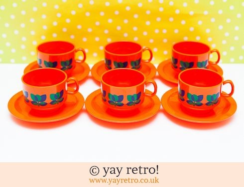 362: Rare Complete Orange Emsa Tea Set (£20.00)