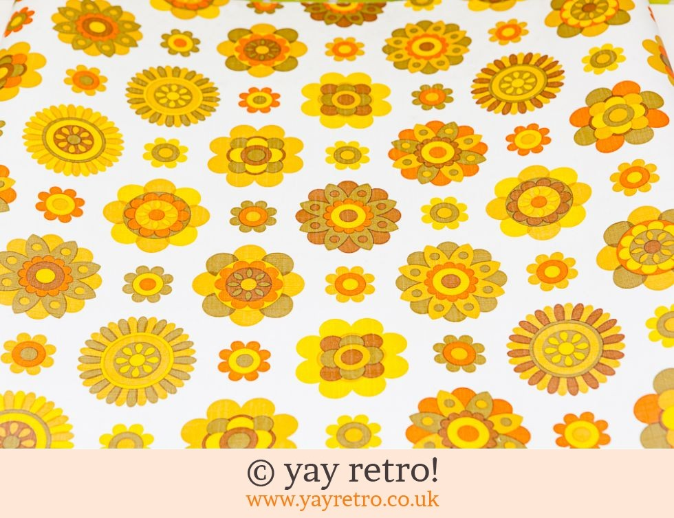 Vintage Orange Daisy Wallpaper GBP1400