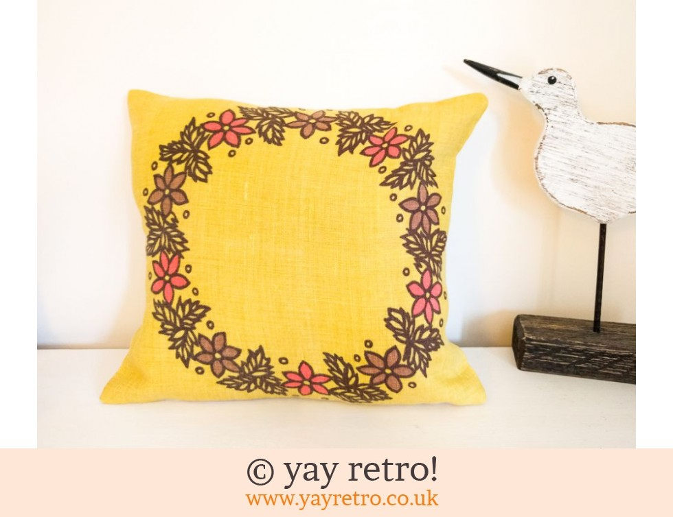 Yellow Scandi Scatter Cushion Buy Yay Retro Handmade