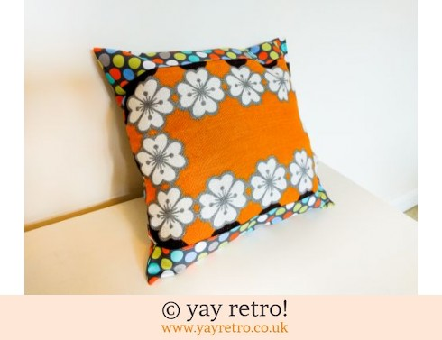 0: Orange Vintage Flower Cushion (£12.00)