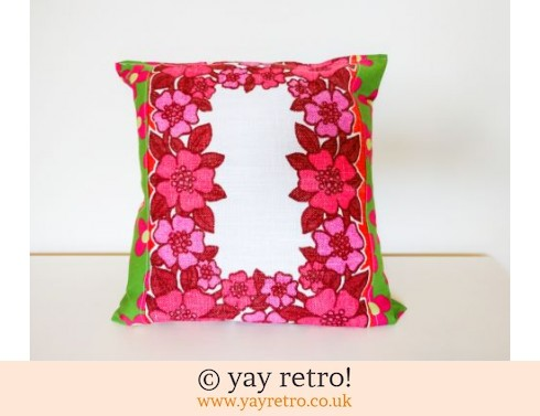 0: Red Vintage Fabric Cushion (£12.00)
