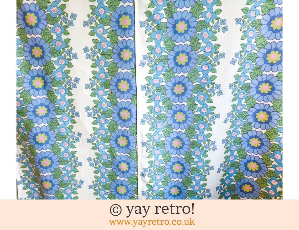 Vintage Flower Power Cotton - 2 Panels (£10.00)