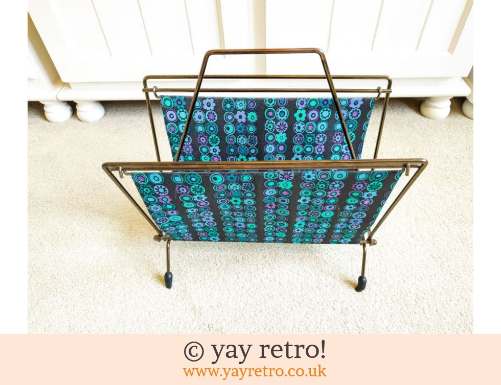 Vintage Flower Power Magazine Rack (£18.95)