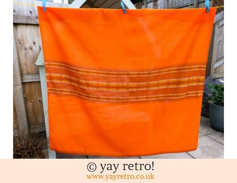 339: Orange Vintage Tablecloth Finland (£16.50)
