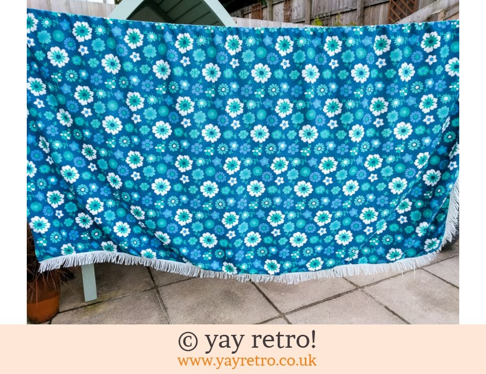 Blue Daisy Bed Cover Throw (£12.00)