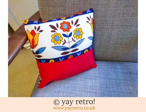 0: Red Scandi Scatter Cushion (£8.50)