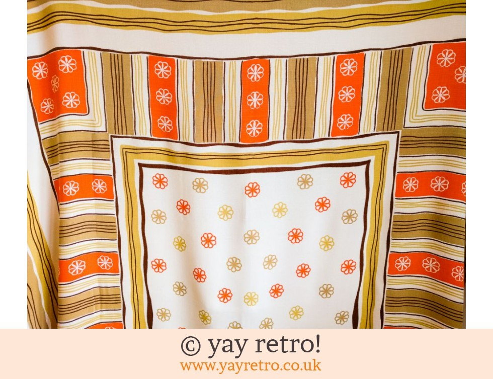 1950/60s Orange Daisy Tablecloth (£17.00)