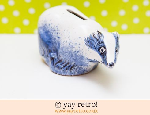 0: Pottery Badger Money Box (£12.00)