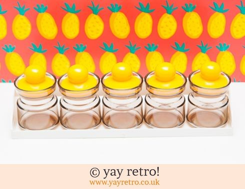 0: Yellow Vintage Spice Jars (£10.00)