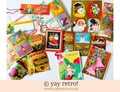 0: Kitsch Vintage Christmas Gift Tag Pack (£4.00)
