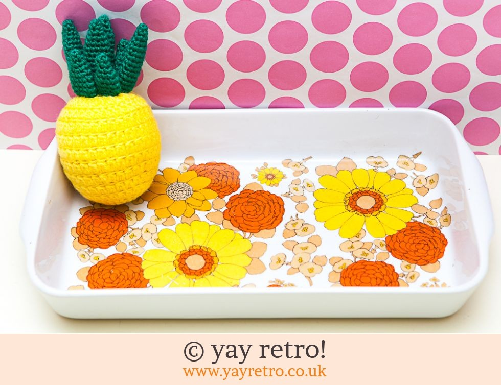 large Flower Power Lasagne / Baking Dish (£17.50)