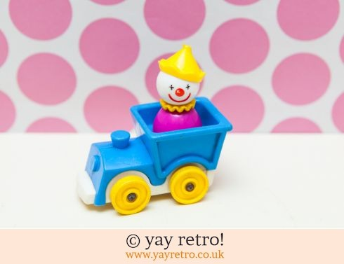 535: Rare Fisher Price Clown in Train Vintage (£14.50)