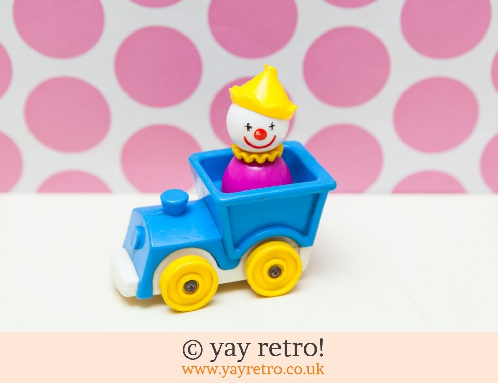 Fisher Price: Rare Fisher Price Clown in Train Vintage (£6.50)