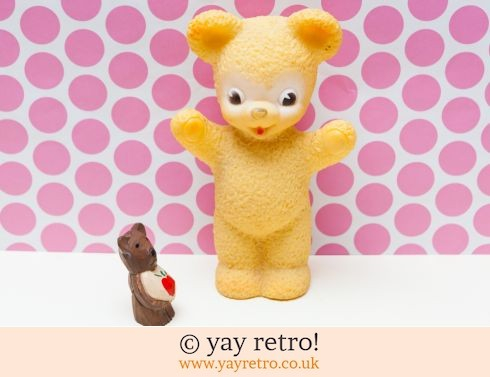 0: Amazing 1950/60s Toy plastic Kitsch Bear Large (£12.50)