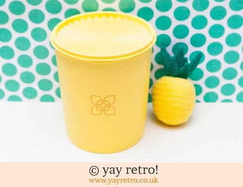 46: Tall Yellow Vintage Tupperware Storage Container (£11.00)