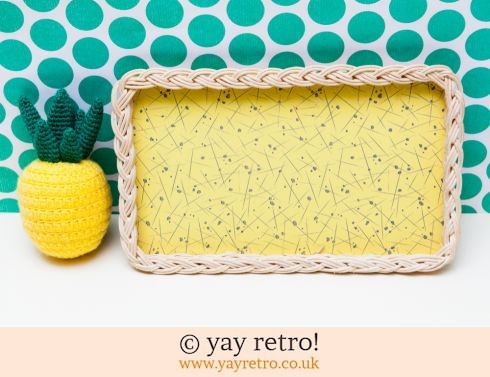 0: Superb Yellow 50s Wicker Tray (£17.95)