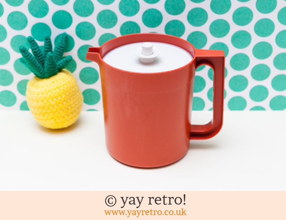 Tupperware: Vintage Orange Tupperware Push Button Seal Jug (£7.50)