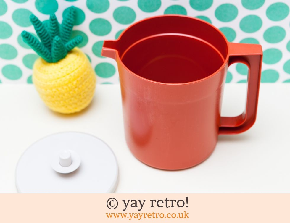Vintage Orange Tupperware Push Button Seal Jug (£7.50)