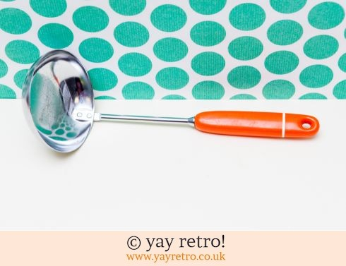0: Vintage Orange Ladle - Free Postage (£9.00)