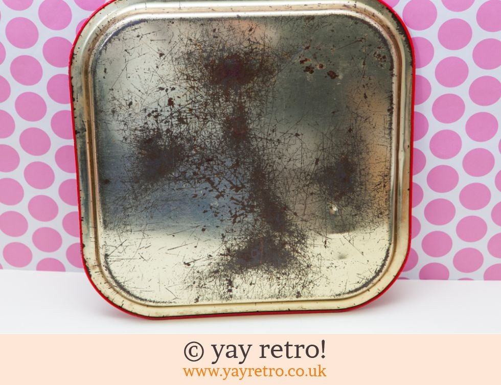 Red 1980s Metal Tray (£5.00)