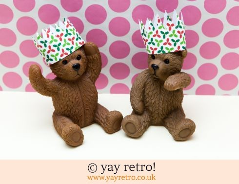 0: Large Brown Bear Ornaments in Xmas Hats! (£8.00)