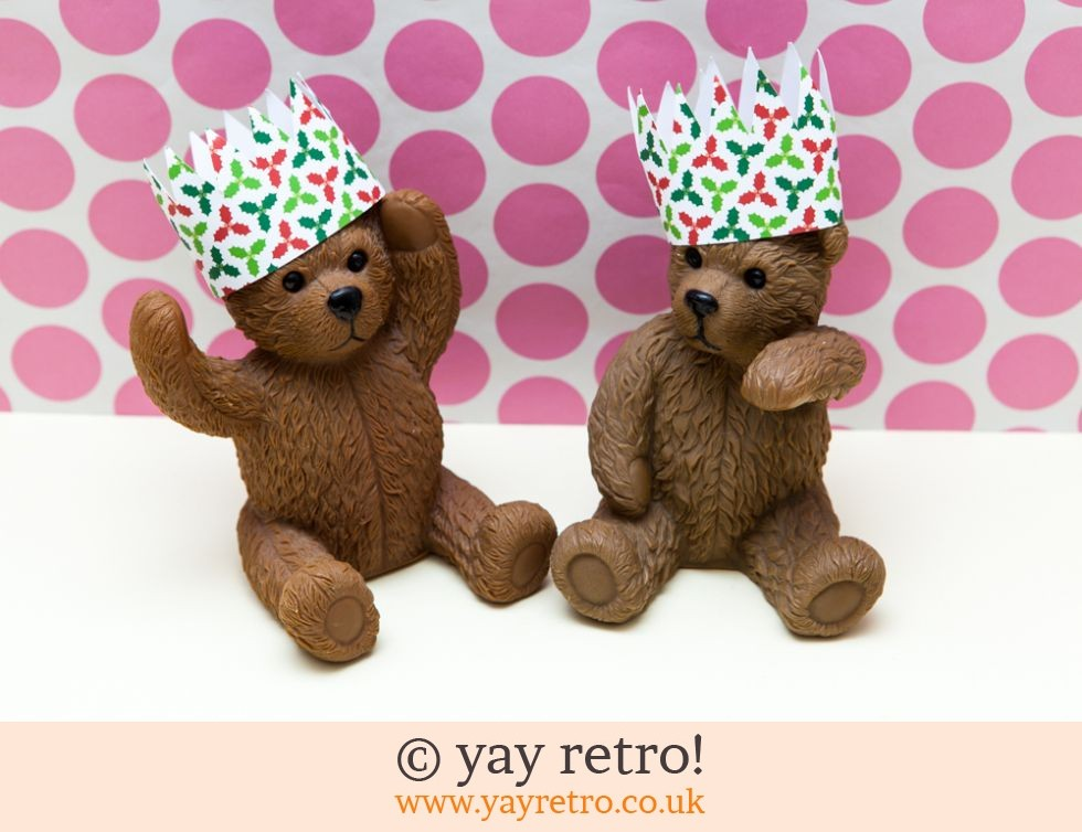 Large Brown Bear Ornaments in Xmas Hats! (£8.00)