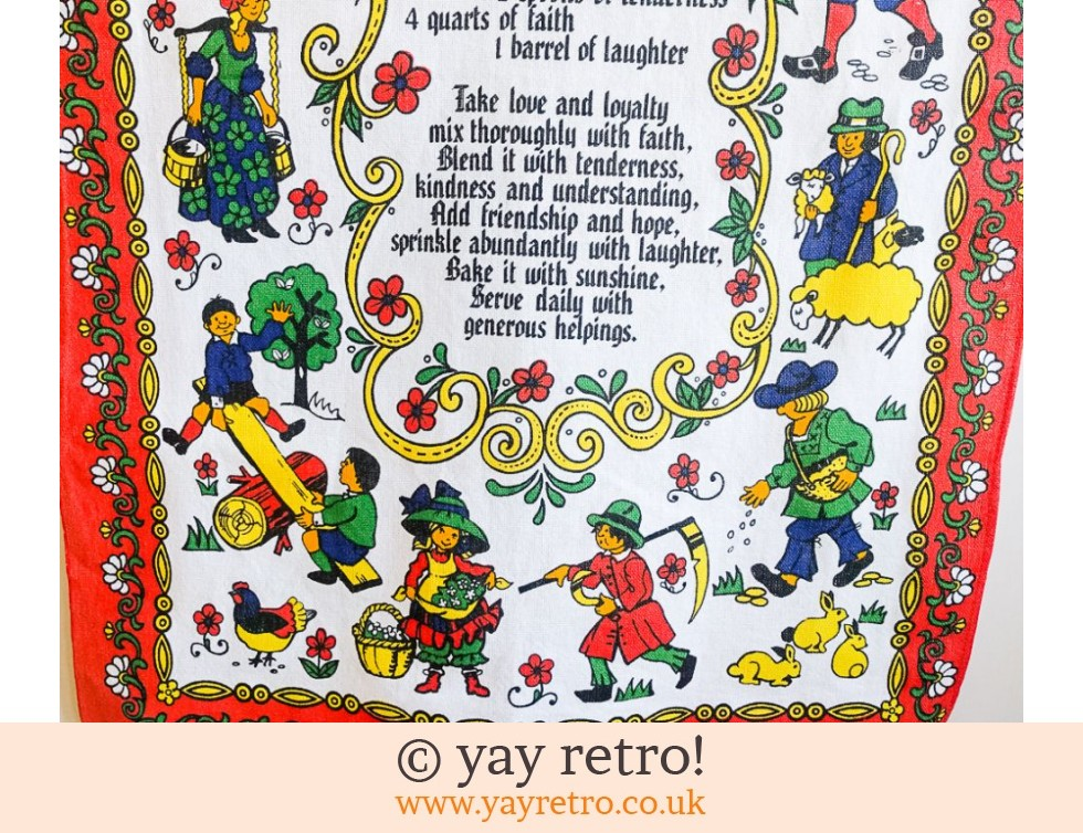 A Recipe for Happiness Vintage Tea Towel (£7.50)