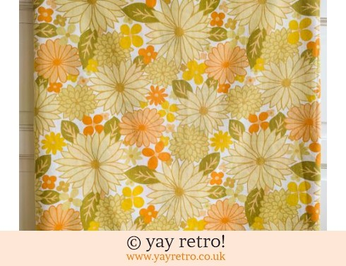 0: Vintage Yellow Flowery Single  Duvet Cover (£21.50)