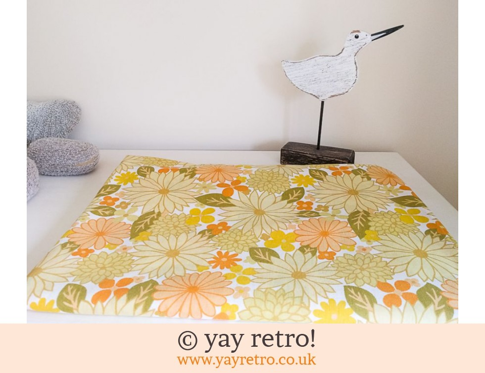 Vintage Yellow Flowery Single  Duvet Cover (£21.50)