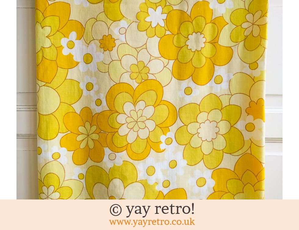 Vintage Yellow Sheet - Flower Power! (£22.50)