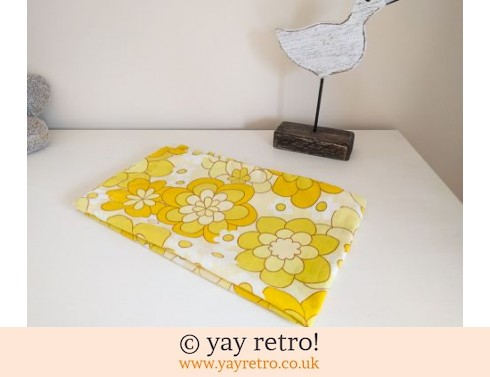 0: Vintage Yellow  Pillowcase - Flower Power! (£6.75)