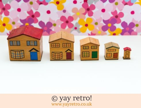 0: 1960s Stacking House Boxes Ornaments/ Storage (£22.95)